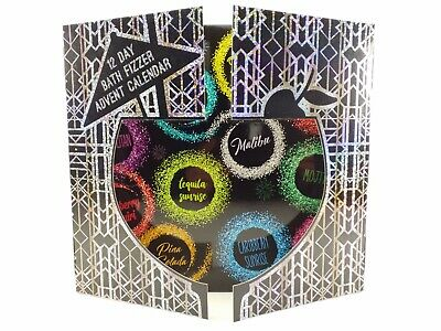 12 Day Bath Fizzer Christmas Advent Calendar Cocktail Scented Fizzers Xmas