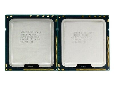 Matched Pair (2 CPUs) Intel Xeon X5690 Six-Core 3.46GHz 12MB Cach *Ship From AU*