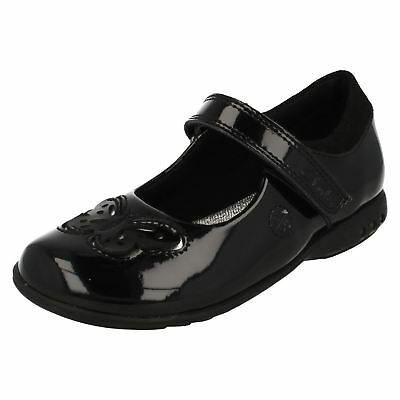 Clarks Trixi Rose Girls Shoes Black Patent With Lights UK 7.5 E Fit (GO)