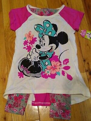 CUTE!! NWT Girls Minnie Mouse shirt with legging size 4T By Disney