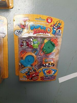 Super Zings Series 4 rivals of kaboom = TOY PACK INC RARE SILVER SUPERZING