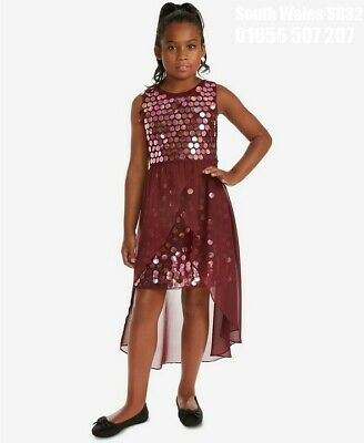 Rare Editions Big Girls Sequin Overlay Party Dress Size Age 15-16 New With Tags