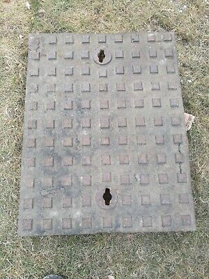Reclaimed cast iron vintage manhole cover& frame. 68cmx 52cm.