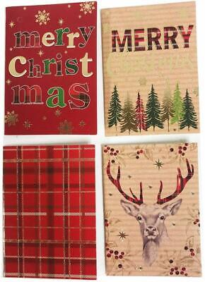 Christmas Gift Tags Xmas 20 Pack Brown Kraft Tartan Luggage Labels Bulk Wrapping