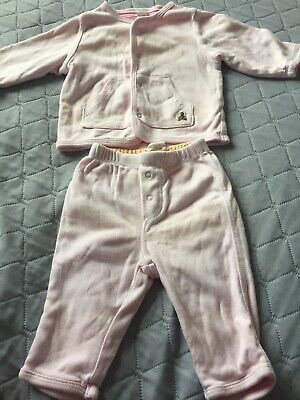 Gorgeous Baby Gap Girls Pink and Striped Reversible Tracksuit Outfit 0-3 Months