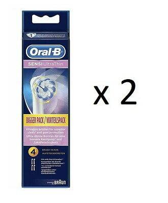 OralB Sensi UltraThin Electric Toothbrush Replacement Heads, 4 ct (2 Pack)