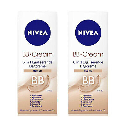 2 X Nivea BB Cream 6 in 1 Medium 50ml  - Blemish Balm - only £14.99!!