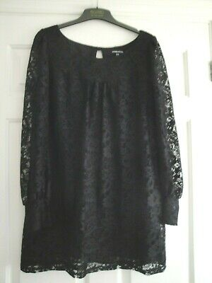 Warehouse Dress Size 14 Black Lace Lined Ladies Girls A Line Ideal Xmas Party
