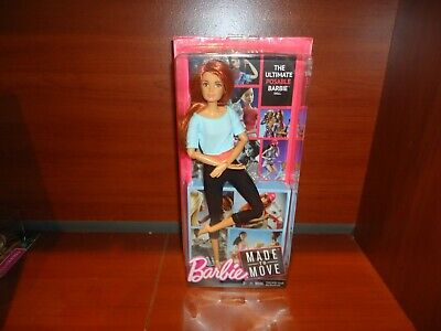 Barbie Doll Made to Move Posable Light Blue Top Red Hair