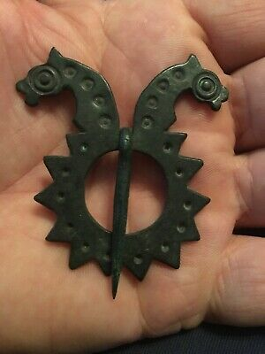 Extremely Rare Early Anglo-Saxon Brooch. Circa 5Th-6Th Century.