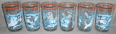 Set (6) 1974 Warner Brothers THUFFERIN' THUCCOTASH 8 oz Character Glasses