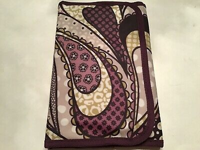 Thirty one purple paisley print folding organizer with notepad