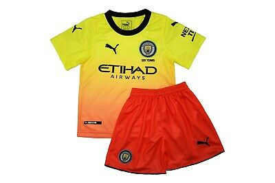 Kit For Kid Fc Manchester City Yellow 19/20 Season New With Tags