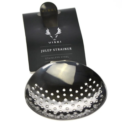 New Viski Stainless Steel Julep Strainer
