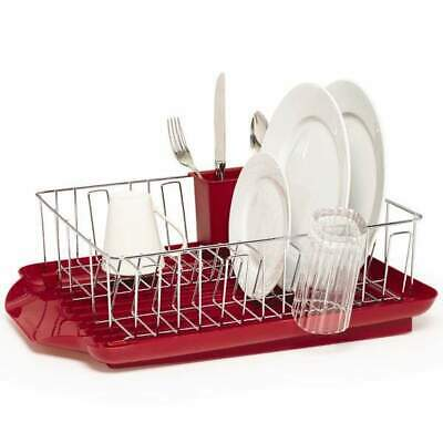 New Mountain Range Dish Rack With Red Tray