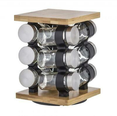 Romano Spice Jar Set with Rack Set of 12