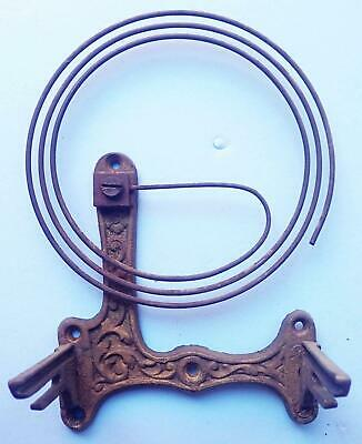 Antique German Wall Clock Movement Mounting Bracket And Gong For Parts
