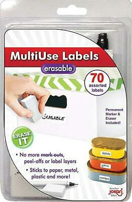 New MultiUse Labels - Erasable 70 Assorted Labels, Pen and Eraser
