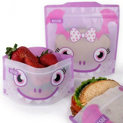New RUSSBE Snack And Sandwich Bags Pack of 4 - Purple