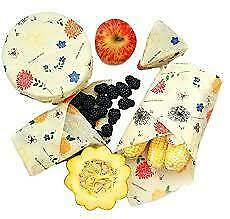 New Buzzee Organic Beeswax Wraps Pack of 3 - 3 Assorted