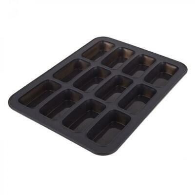 New Daily Bake Silicone 12 Cup Mini Loaf Pan 32.5x24.5x2.7cm Charcoal