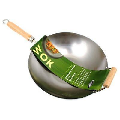 Carbon Steel Wok with Handle 36cm