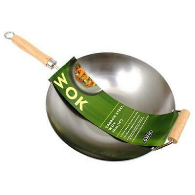 New Carbon Steel Wok with Handle 36cm