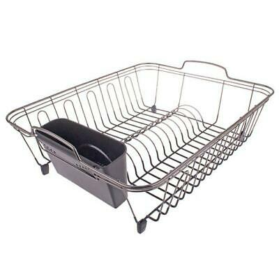 New Dish Rack - Black Nickel/PVC 45.5x36x16.5cm