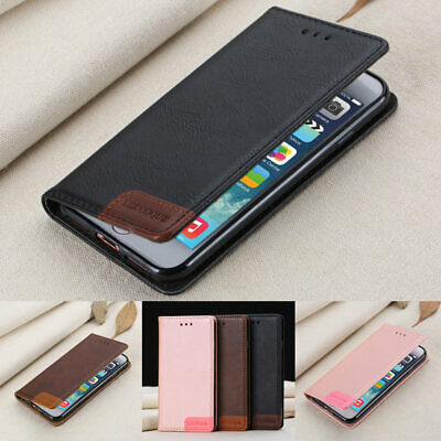 iPhone 11 Pro Max Xs Xr X 6/7/8 Plus Slim Retro Wallet Magnetic Stand Case Cover