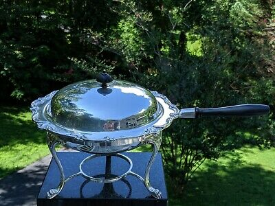 "Webster Wilcox IS 2775 ""Joanne"" Silverplate Serving Chafing Dish Set: Complete"