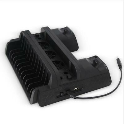 Vertical Game Controller Stand Dock Base Cooling Cooler Fan for PS4/SLIM/PRO