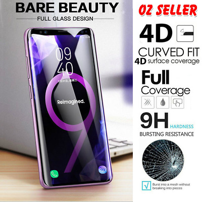Samsung Galaxy S9 S8 Plus S7 9H UV Full Coverage Tempered Glass Screen Protector