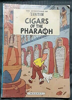 Adventures Tintin 4 Cigars of the Pharaoh 1984 Casterman Comics