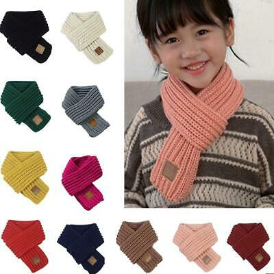 Soft Kids Girls Boys Knitted Scarf Thickened Winter Shawl Warm Scarves Wools