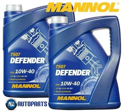 2x Mannol - Defender 10W40 Engine Oil Semi Synthetic MB229.1 501.01/505.00 - 5L