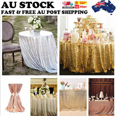 Sequin Table Cloth Backdrop Tablecover Party Wedding Event Decor 100/180/200cm
