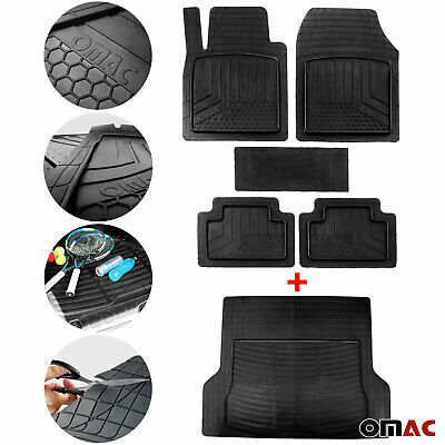 For Ford Waterproof Rubber 3D Molded Floor Mats & Cargo Liner Protection  SET