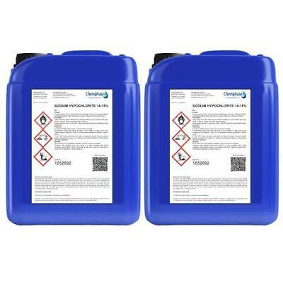 Sodium Hypochlorite 14-15% Patio Cleaner / Swimming Pool Chlorine - 10 Litre
