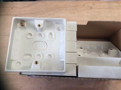 Nouveau single surface mount electric back box 1 gang 35MM deep fast free post