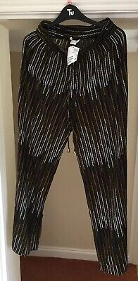 H&M Womens light striped trousers UK size 12. New With Tags.