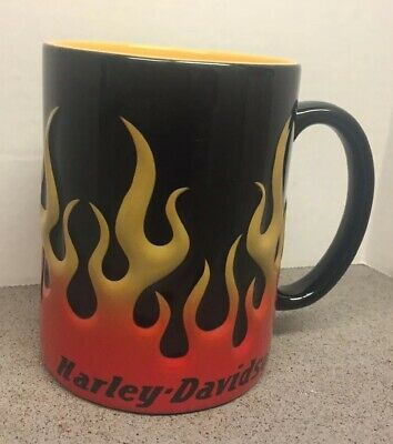 Harley-Davidson Motorcycle Sculpted Flames Coffee Mug 15oz Ceramic Cup HDX-98604