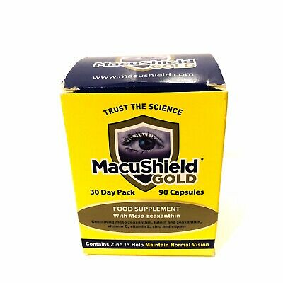 Macushield Gold 90 Capsules 1 Month Supply - 3 Capsules Per Day - Royal Mail 1st