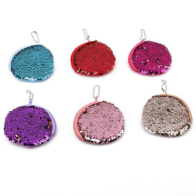 Women Mini Wallet Zipper Card Holder Coin Purse Sequin Clutch Bag Handbag  JO