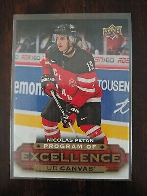2015-16 Upper Deck Young Guns UD Canvas Nicolas Petan Program Of Excellence