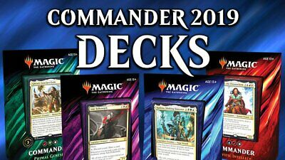 Magic The Gathering Commander 2019 Sealed Case Of 4 Decks