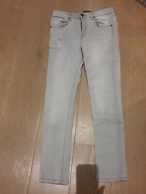 Boys River Island Skinny  DistressedEffect Light Blue Jeans Age 12.