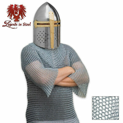 REAL Gauge Chain Mail Knight Medieval Shirt Middle Ages Viking Costume Cosplay