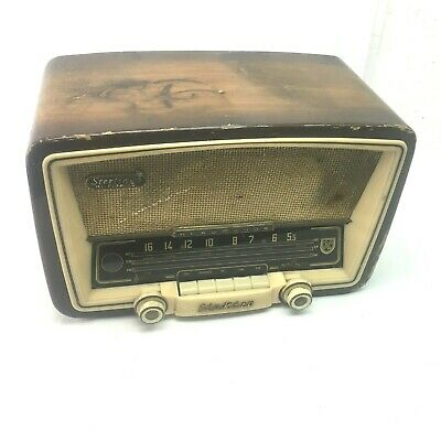 NORMENDE STERLING Hi Fidelity Electra Tube Radio For Parts or Repair