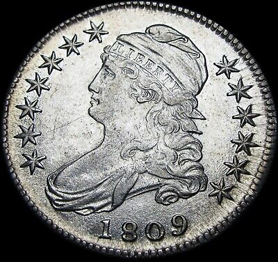 1809 Capped Bust Half Dollar Type 1/2 US Silver Coin  ---- STUNNING  ----  #W820