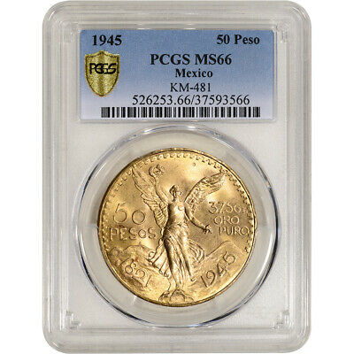 1945 Mexico Gold 50 Pesos - PCGS MS66 KM-481